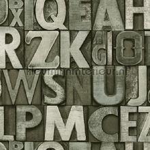 Bold typography modern style XL rol papel pintado AdaWall adolescente