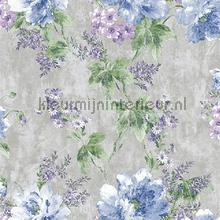 Flower bunch XL roll behang AdaWall Indigo 4708-3