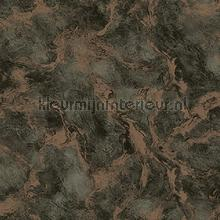 Oxidised metallised marble XL roll behang AdaWall Indigo 4712-7