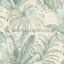 Palm leaves tropical jungle XL roll behang AdaWall Indigo 4714-2