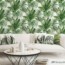 Palm leaves tropical jungle XL roll behang AdaWall Indigo 4714-4
