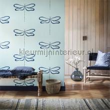 Dragonfly marine tapet Scion interiors