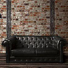 bakstenen muur met stalen balk  behang jet setter van dutch, Meubels Ideeën