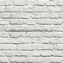 Witte bakstenen muur tapeten Dutch Wallcoverings Jet Setter 102539