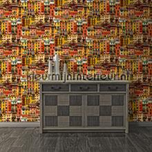 Kleurrijke huizen tapet J707-02 nostalgisk Dutch Wallcoverings