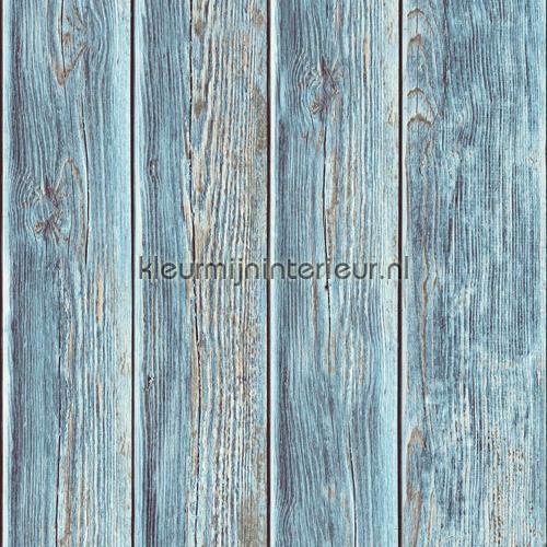 Gebeitste planken carta da parati J86801 legno Dutch Wallcoverings