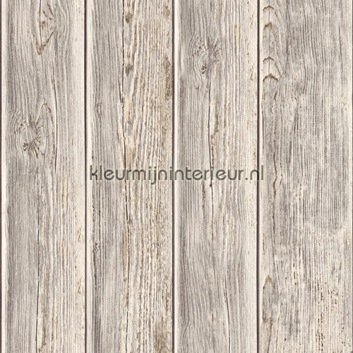 Gebeitste planken carta da parati J86808 legno Dutch Wallcoverings
