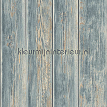 Gebeitste plankenvergrijs blauwgrijs lichtbruin behang Dutch Wallcoverings Kaleidoscope J86809