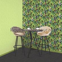 Dutch Wallcoverings Behang.Papegaaien J92902 Behang Kaleidoscope Dutch Wallcoverings