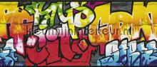 Kleurrijke graffity rand tapet Rasch Kids and Teens II 237900