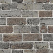 Graffiti stenen combi behang Rasch jongens