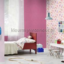 Glad behang roze tapeten Rasch Kids and Teens II 247466