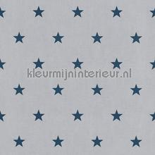 Betongrijs met blauwe sterren behang Rasch jongens