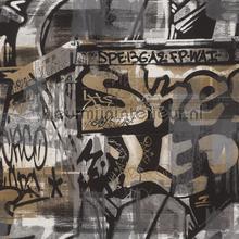 Street graffiti behang Rasch jongens