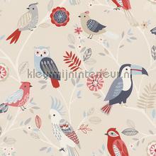 Kleur vogels tapeten Rasch Kids and Teens II 293005