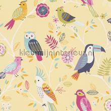 Kleur vogels tapeten Rasch Kids and Teens II 293029