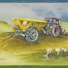 Landbouwwerktuigen behang Rasch jongens