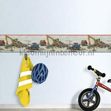 Bulldozers op de bouw papel de parede Rasch carros transporte
