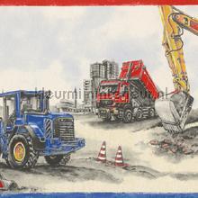 Bulldozers op de bouw behang Rasch jongens