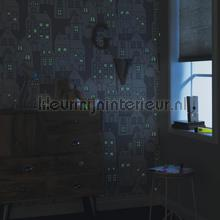 Huizen warmgrijze achtergrond behang 503449 Interieurvoorbeelden behang Rasch