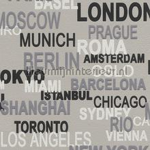 Stadsnamen behang Rasch jongens