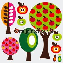 Fruitbomen stickerset stickers mureaux Kleurmijninterieur garçons