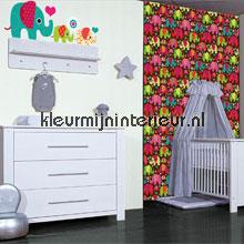 Olifanten stickerset interieurstickers Kleurmijninterieur meisjes