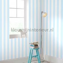 Pastel Blue Stripe behang Noordwand strepen