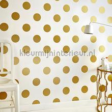 Dotty Gold papel de parede Noordwand Kids@home 5 100105