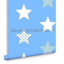 Superstar Blue behang Noordwand jongens