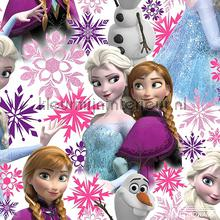 Frozen Anna and Elsa Pink wallcovering Noordwand urban