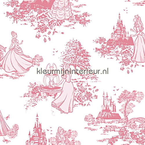 Princess Pink Toile papel pintado 70-233 Kids@home 5 Noordwand