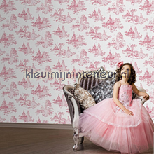 Princess Pink Toile wallcovering Noordwand urban
