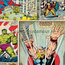 Marvel Comic Strip papel de parede Noordwand Kids@home 70-264
