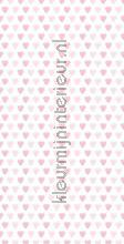 Roze Hartjes papier peint Kek Amsterdam Kinderbehang WP-030