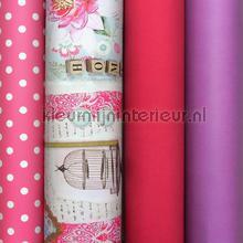 Paars roze nostalgie knustelpakket 18 mtr papier peint Kleurmijninterieur Tout-images