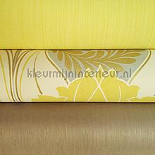 Lime geel en bronze luxe wallcovering Kleurmijninterieur wallpaperkit