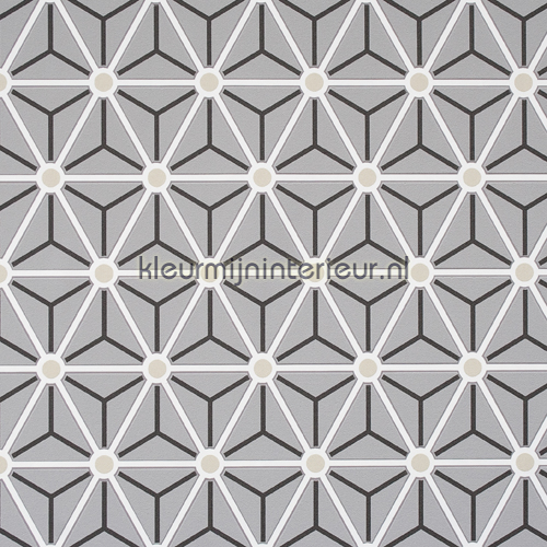 Triangles 49064 behang layers bn wallcoverings - Grafisch behang ...