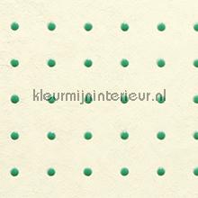 Dots groen op creme behang Arte Le Corbusier 31000