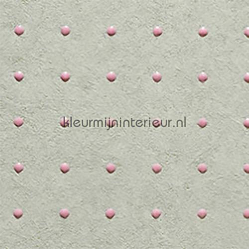 Dots roze op lichtgrijs behang 31004 Le Corbusier Arte