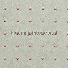 Dots roze op lichtgrijs behang Arte Le Corbusier 31004