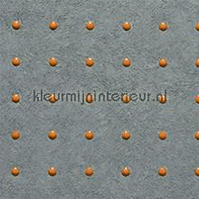 Dots oranje op grijs behang Arte Le Corbusier 31008