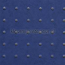Dots grijs op diepblauw behang Arte Le Corbusier 31012
