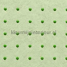 Dots groen op licht groen behang Arte Le Corbusier 31017