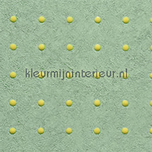 dots creme op zacht groen behang Arte Le Corbusier 31018