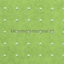 Dots lichtgrijs op appelgroen behang Arte Le Corbusier 31019
