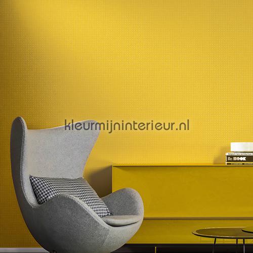 dot wit op helder warm geel 31022 behang le corbusier arte. Black Bedroom Furniture Sets. Home Design Ideas