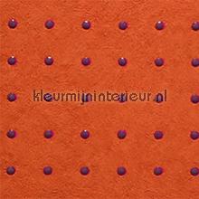 Dots bruin op oranje behang Arte Le Corbusier 31025