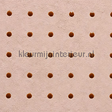 Dots roodbruin op zacht roze behang Arte Le Corbusier 31026