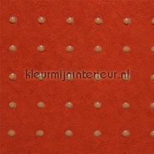 Dots licht bruin op oranje rood behang Arte Le Corbusier 31027